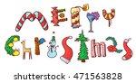 merry christmas lettering. the... | Shutterstock .eps vector #471563828