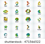 set of abstract vector company... | Shutterstock .eps vector #471566522