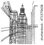 scene street illustration. hand ... | Shutterstock .eps vector #471570638