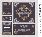 wedding cards collection.... | Shutterstock .eps vector #471573872