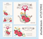 wedding cards collection ... | Shutterstock .eps vector #471573902