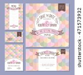set of wedding cards. wedding... | Shutterstock .eps vector #471573932
