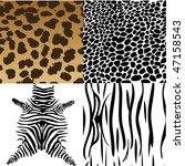 animals skin. vector... | Shutterstock .eps vector #47158543
