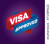 visa approved arrow tag sign. | Shutterstock .eps vector #471589622