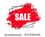 creative sale banner  frame ... | Shutterstock .eps vector #471596435