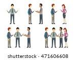 full length of business man ... | Shutterstock .eps vector #471606608