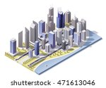 vector isometric city downtown | Shutterstock .eps vector #471613046