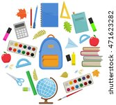 set of colorful items for... | Shutterstock .eps vector #471623282