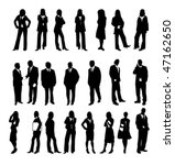silhouette of business people... | Shutterstock .eps vector #47162650