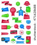 vector stickers  price tag ... | Shutterstock .eps vector #471628688