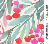 seamless watercolor floral... | Shutterstock . vector #471631385