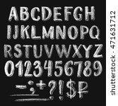 sans serif chalk roman alphabet ... | Shutterstock .eps vector #471631712