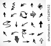 hand drawn arrows  vector set | Shutterstock .eps vector #471639152