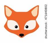 cute fox face | Shutterstock .eps vector #471640802