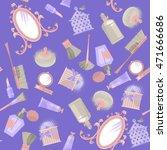 mirror and cosmetics. retro... | Shutterstock .eps vector #471666686