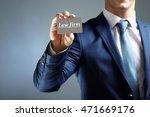 elegant man in suit holding... | Shutterstock . vector #471669176