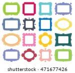 set of empty vector monochrome... | Shutterstock .eps vector #471677426