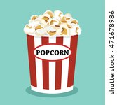 set of popcorn vector flat ... | Shutterstock .eps vector #471678986