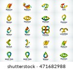 set of abstract vector company... | Shutterstock .eps vector #471682988