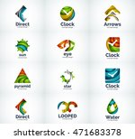 set of abstract vector company... | Shutterstock .eps vector #471683378