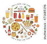 food and drink flat icons... | Shutterstock .eps vector #471685196