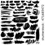brush hatches set. black... | Shutterstock .eps vector #471685472