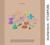 the sale of advertising design. ... | Shutterstock .eps vector #471689186