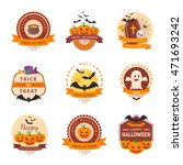 halloween party badge design.... | Shutterstock .eps vector #471693242
