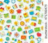 seamless school pattern with... | Shutterstock .eps vector #471700475