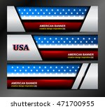 usa flag color banner... | Shutterstock .eps vector #471700955