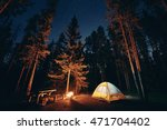 camping under stars with... | Shutterstock . vector #471704402