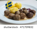 meatballs with boiled potatoes... | Shutterstock . vector #471709832