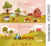 farm agriculture landscape... | Shutterstock .eps vector #471710015
