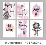 hand drawn vector painted... | Shutterstock .eps vector #471716342