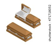 coffin isometrics. wooden... | Shutterstock .eps vector #471718052