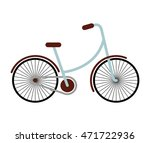 bicycle hipster style isolated...