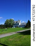 Small photo of BAR HARBOR, MAINE - SEP 14, 2013 - Hotel on the ocean front on Mount Desert Island, Acadia National Park