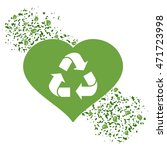vector recycle logo in green... | Shutterstock .eps vector #471723998