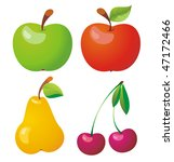 fruits icon set. vector...   Shutterstock .eps vector #47172466