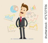 businessman or manager with... | Shutterstock .eps vector #471727556