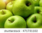 Green Apples Fresh With Rain...