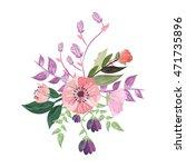 flat design delicate flower... | Shutterstock .eps vector #471735896