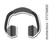 flat design single headphones...