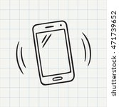 smart phone doodle icon. hand... | Shutterstock .eps vector #471739652
