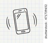 smart phone doodle icon. hand... | Shutterstock .eps vector #471739652