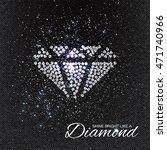 brilliant stones diamond... | Shutterstock .eps vector #471740966