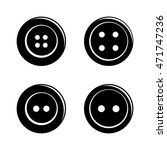 set of simple sewing buttons... | Shutterstock .eps vector #471747236