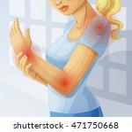 joint pain. cartoon vector... | Shutterstock .eps vector #471750668