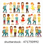 vector illustration set of... | Shutterstock .eps vector #471750992