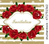 vintage frame with beautiful... | Shutterstock .eps vector #471751562